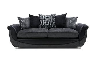 4 Seater Pillow Back Sofa Zander