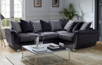 Zander Left Hand Facing Pillow Back 3 Seater Corner Sofa Zander