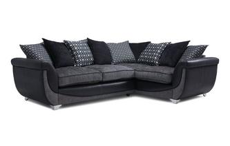 Left Hand Facing Pillow Back 3 Seater Corner Sofa Zander