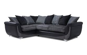 Right Hand Facing Pillow Back 3 Seater Corner Sofa Zander