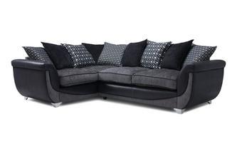 Right Hand Facing Pillow Back 3 Seater Corner Sofa