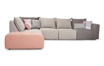 Right Hand Facing Arm Corner Sofa Dusky