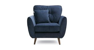 Zinc Velvet Armchair