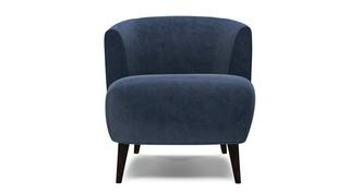 Zinc Velvet Plain Tub Chair