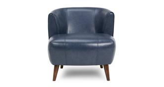 Zinc Leather Tub Chair