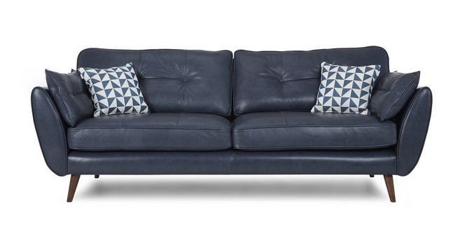 Zinc: Leather 4 Seater Sofa