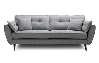 Weave 4 Seater Sofa Zinc Weave