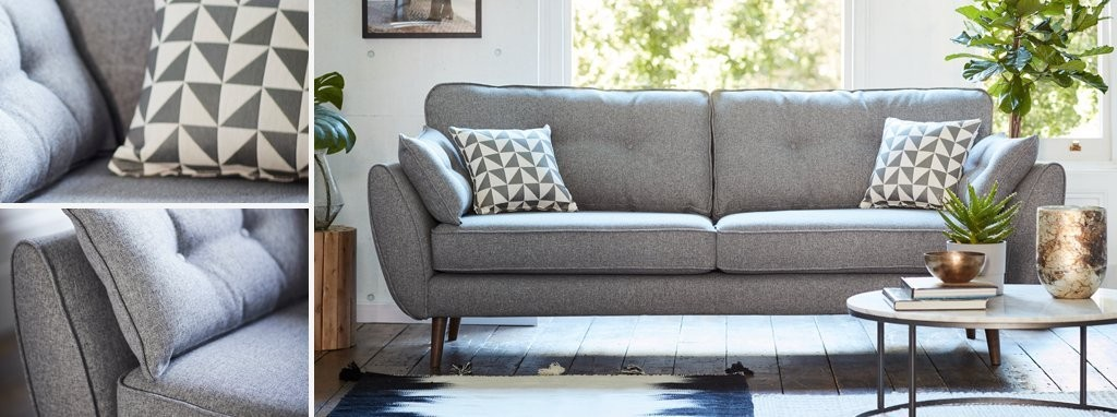 Zinc 3 Seater Sofa Zinc Dfs
