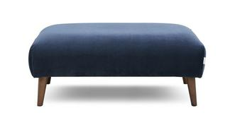 Zinc Velvet Plain Large Footstool
