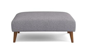 Plain Large Footstool Zinc