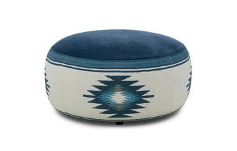 Round Pattern Footstool