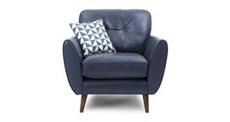 Zinc Leather Armchair