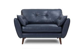 Cuddler Sofa Zinc Leather