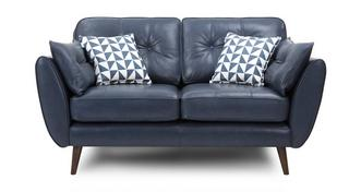 Zinc Leather 2 Seater Sofa
