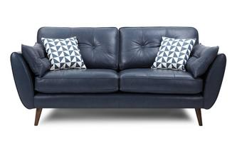 3 Seater Sofa Zinc Leather