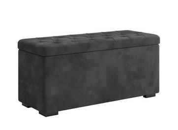 Deacon Velvet Upholstered Grey Storage Chest