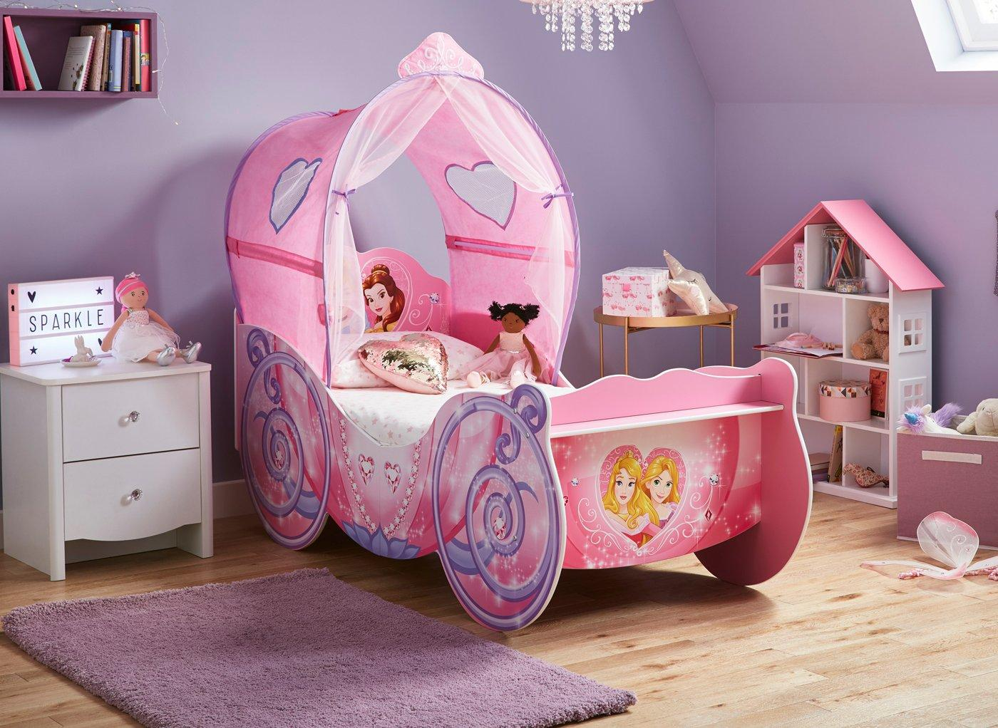 - Disney Princess Carriage Toddler Bed Frame With Canopy Kids
