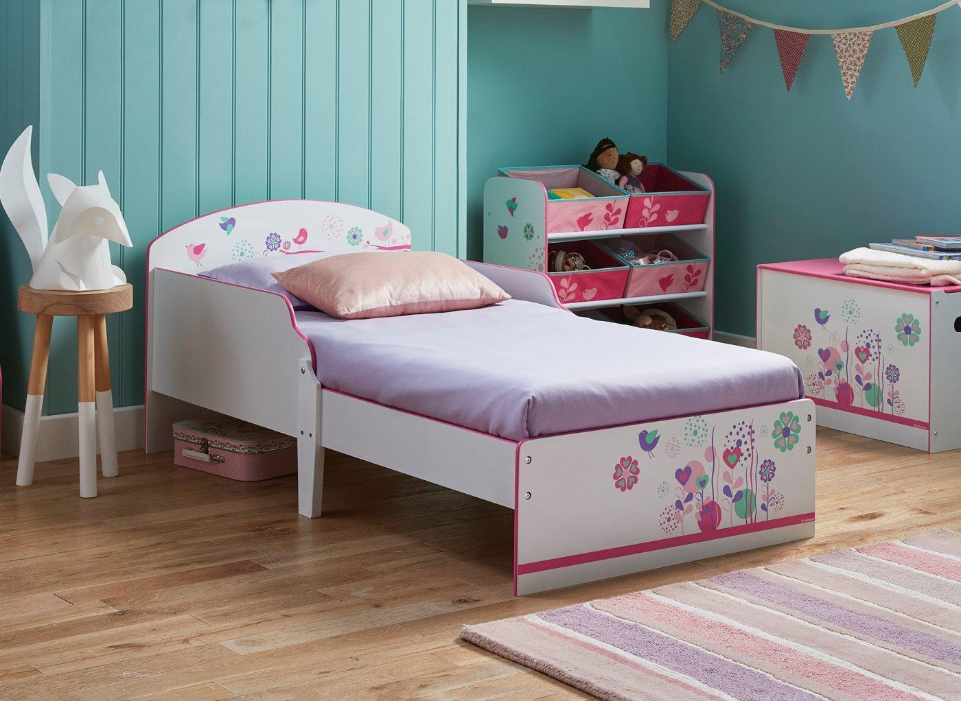 flowers---birds-toddler-bed-frame