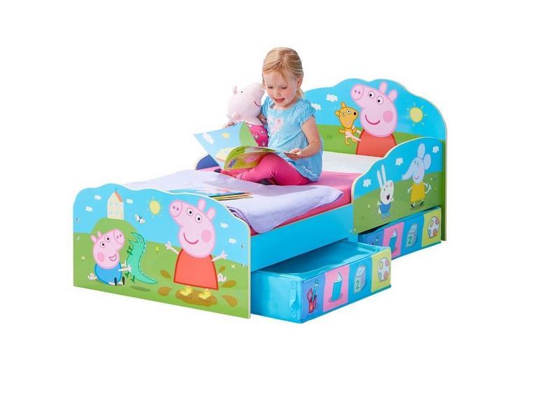 Peppa Pig Toddler Bed Frame With Storage Kids Beds Kids Dreams