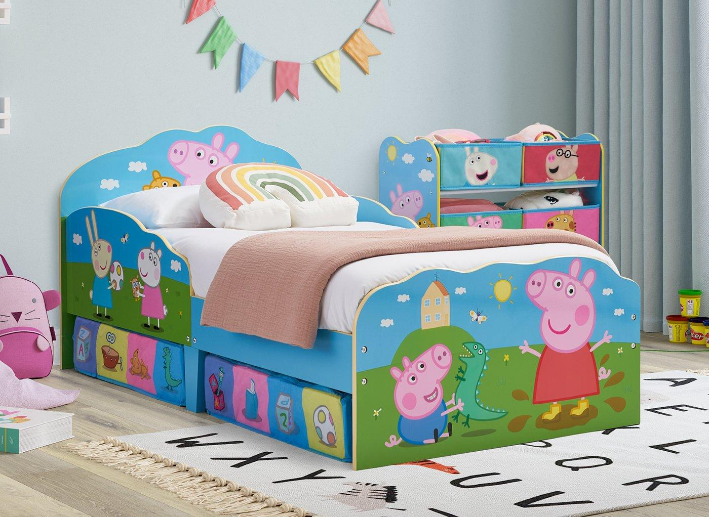 peppa-pig-toddler-bed-frame-with-storage