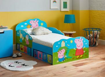 Peppa Pig Toddler Bed Frame with Storage