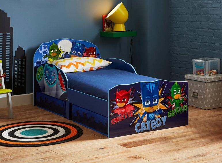 a867a55a5838 PJ Masks Toddler Bed Frame with Storage
