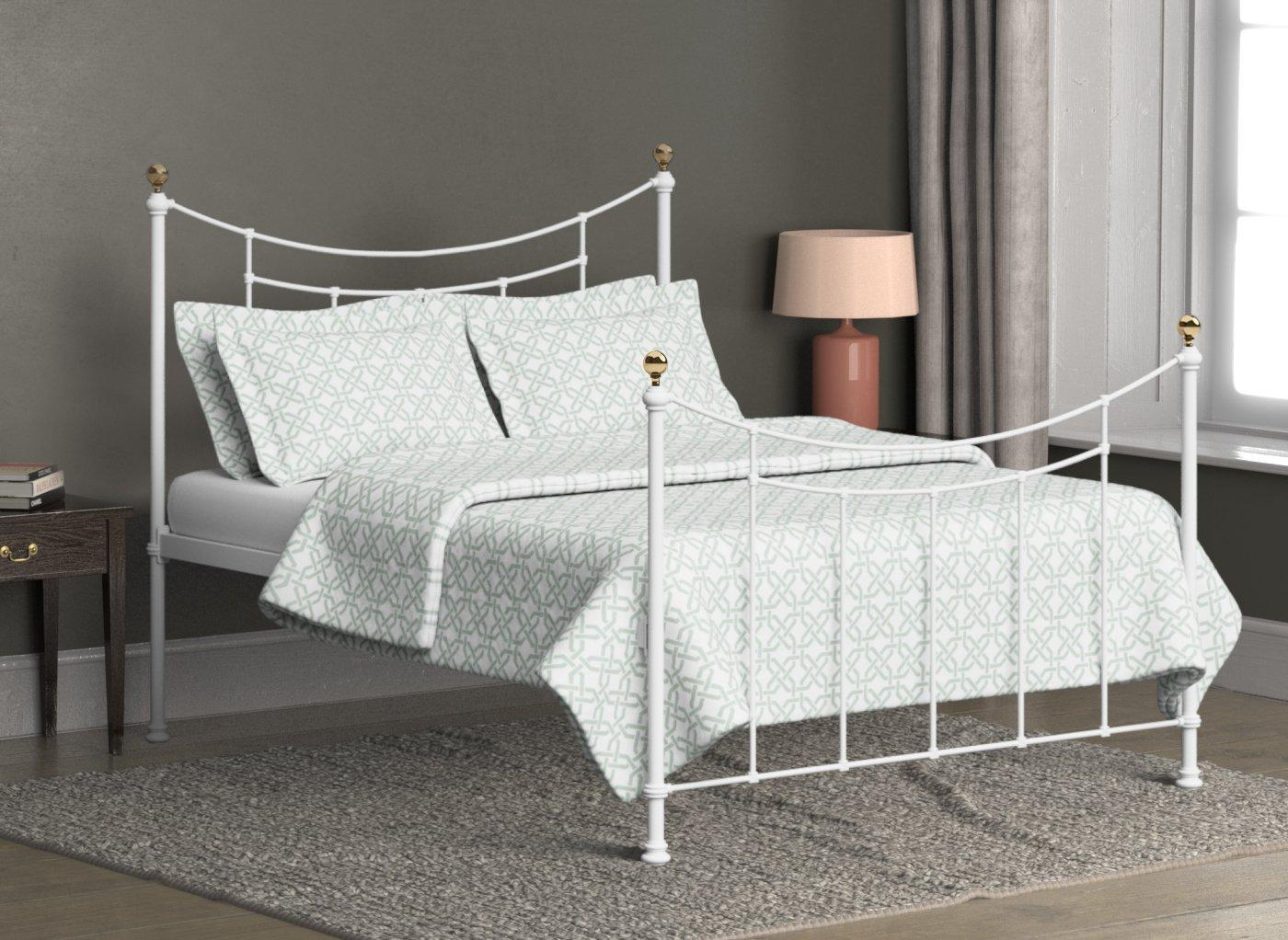 Virginia Satin White Metal Bed Frame 3'0 Single