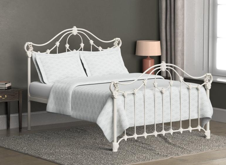 Alva Ivory Metal Bed Frame 6'0 Super king CREAM