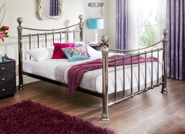 Nelson Nickel Metal Bed Frame