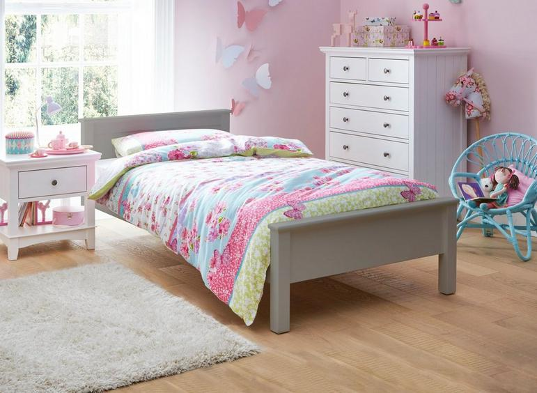 Hutchin Single Wooden Bed Frame 3'0 Single GREY