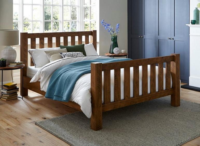 Moore Pine Wooden Bed Frame 5'0 King