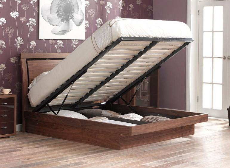 Isabella Wooden D Ottoman Bed Frame 4'6 Double WALNUT