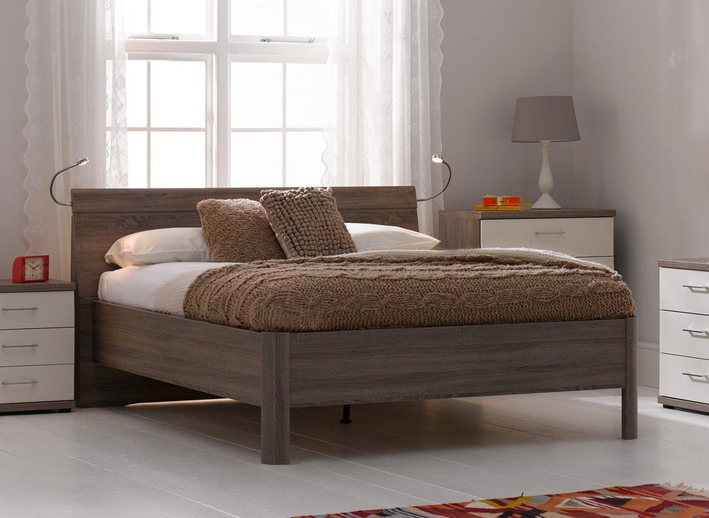 Melbourne Oak Wooden Bed Frame 5'0 King