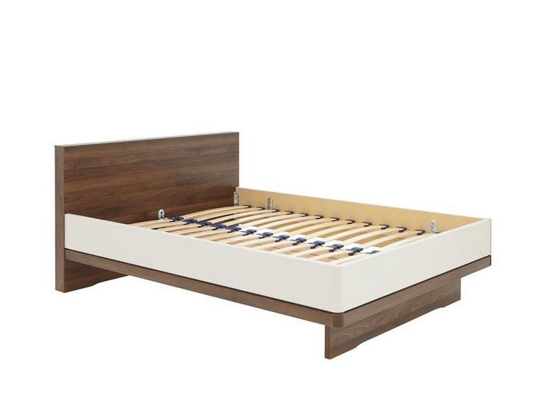 Cali Bed Frame - Champagne And Dark Wood 5'0 King WALNUT