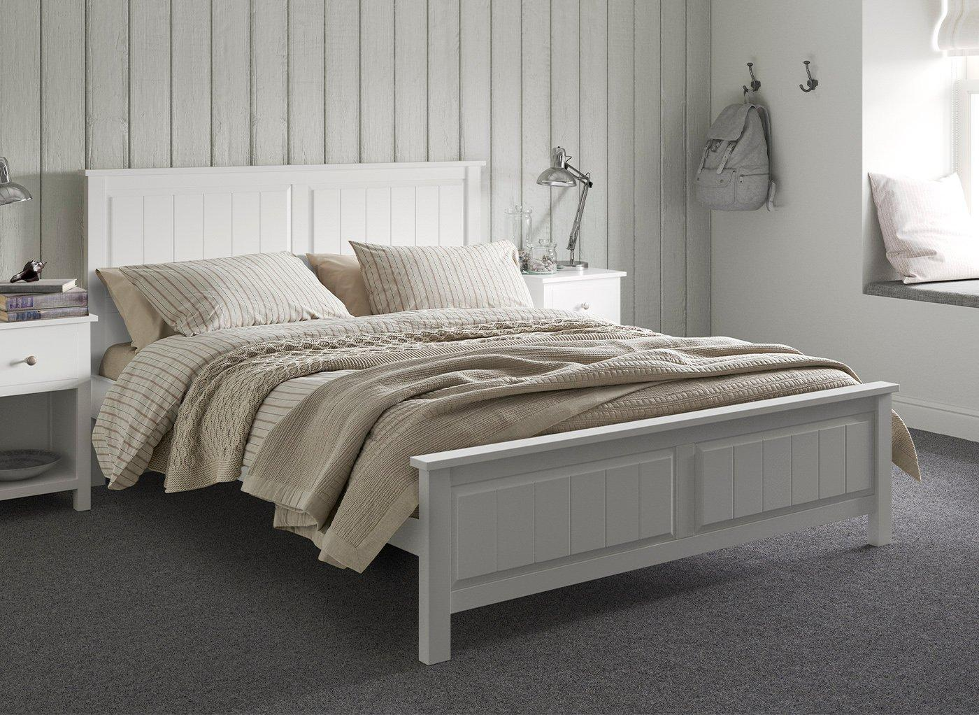 Woodbridge Wooden Bed Frame 3'0 Single WHITE