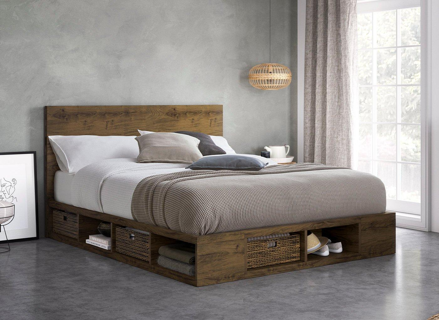 Picture of: Wilkes Wooden Storage Bed Frame Free Delivery Dreams