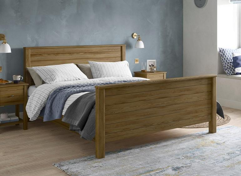 Fulham Wooden Bed Frame 5'0 King OAK