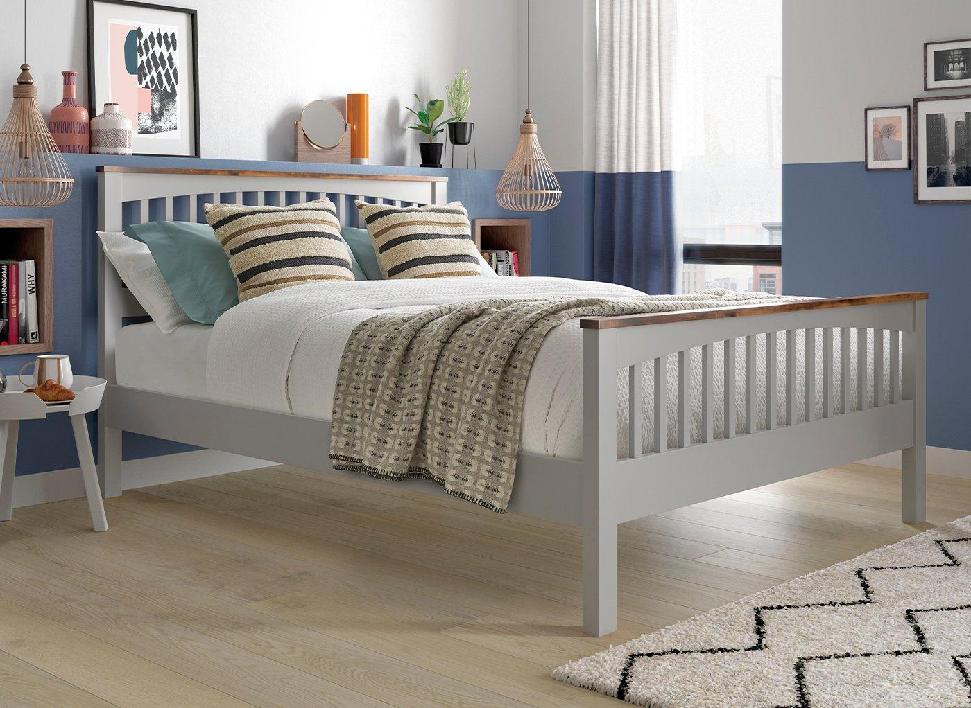 Fleetwood Wooden Bed Frame 5'0 King GREY