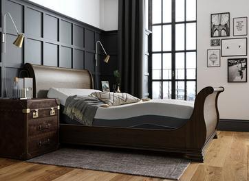 Otis Sleepmotion 200i Adjustable Wooden Sleigh Bed Frame