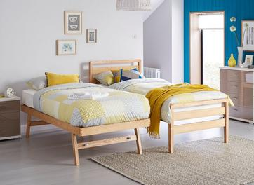 Woodstock Wooden Bed Frame & Guest Bed