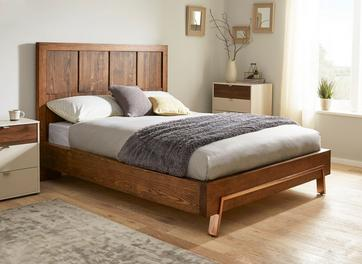 Grant Dark Wood and Copper Bed Frame