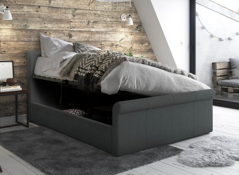 Fantastic Wilson Fabric Upholstered Ottoman Bed Frame Dreams Creativecarmelina Interior Chair Design Creativecarmelinacom