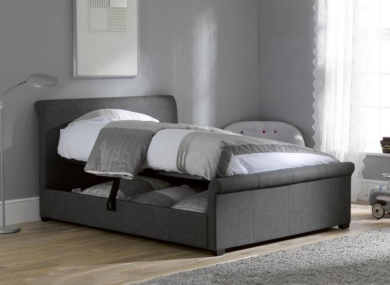 Wilson Fabric Upholstered Ottoman Bed Frame Dreams