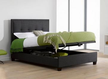 Evert Fabric Upholstered Ottoman Bed Frame