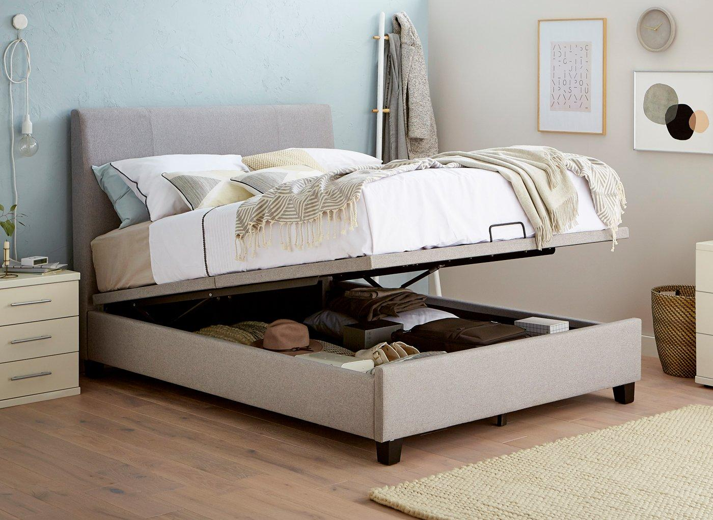 Francis Grey Fabric Ottoman Bed Frame 5'0 King