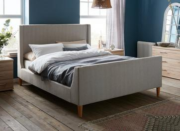 Morris Fabric Upholstered Upholstered Bed Frame
