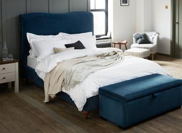 Salisbury Velvet Upholstered Bed Frame