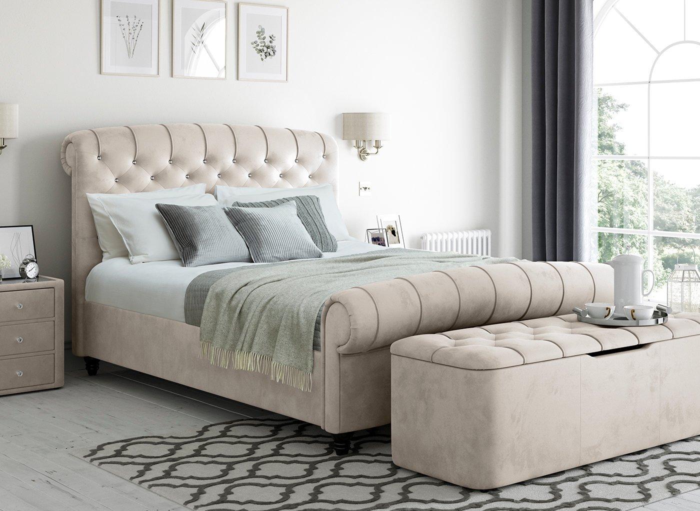 ellis-velvet-finish-upholstered-bed