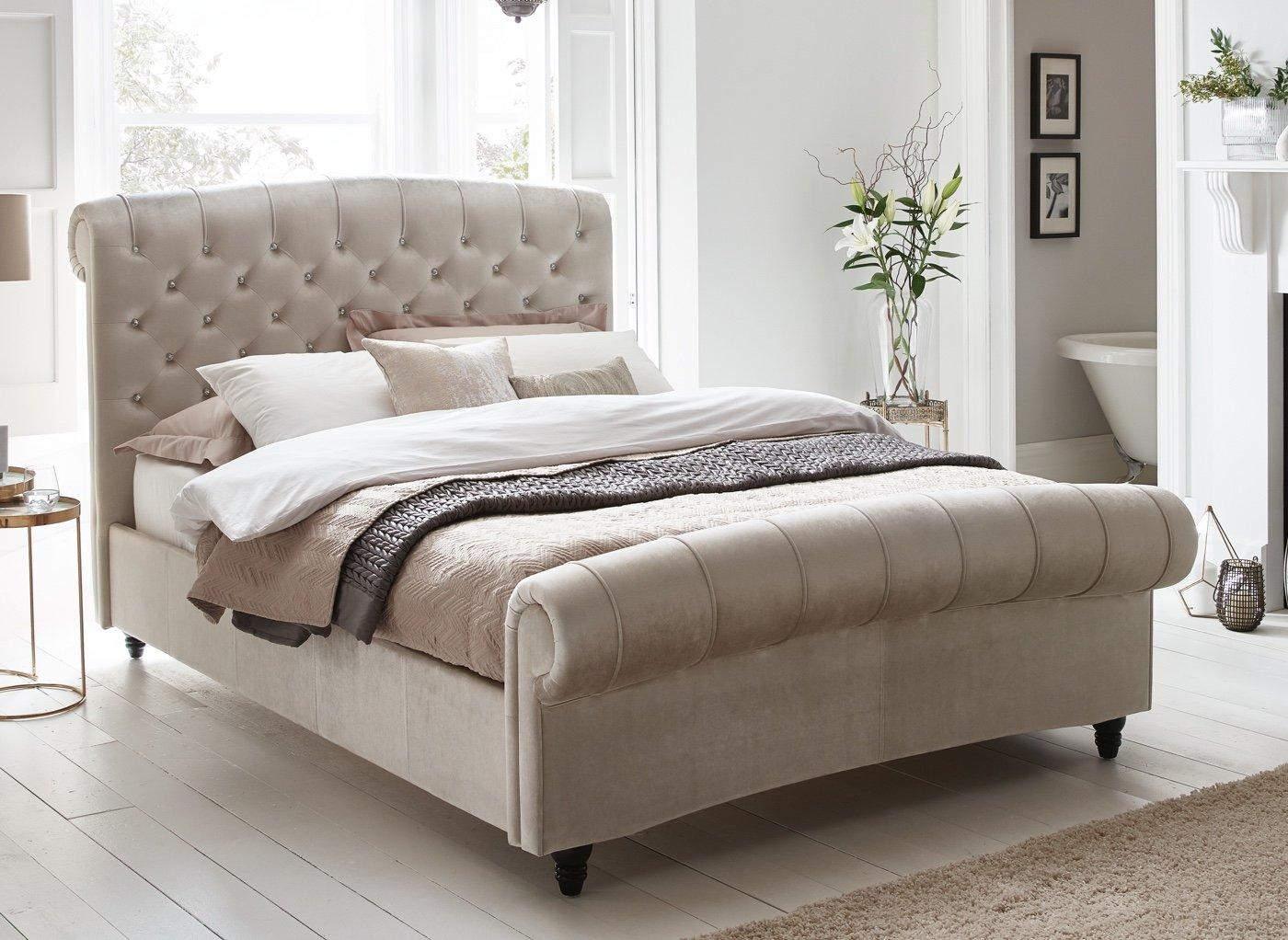 Dreams Ellis Velvet Finish Upholstered Bed from £639