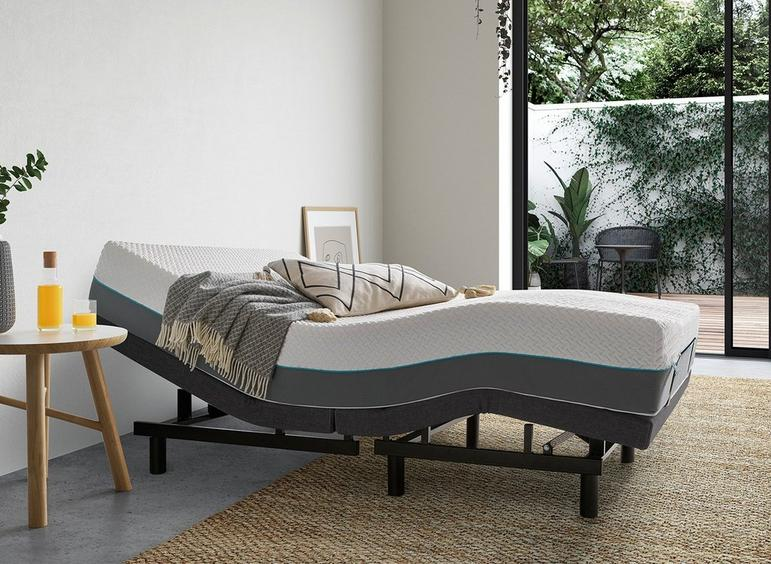 Sleepmotion 200i Adjustable Bed Frame 6'0 Super king GREY